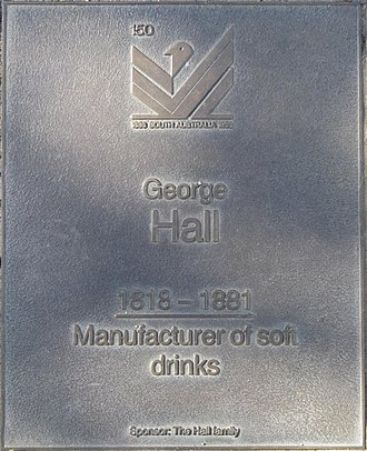 Geo. Hall & Sons - Commemorative plaque on the Jubilee 150 Walkway
