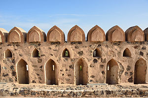 History of Oman - Wall of the Jabrin Castle