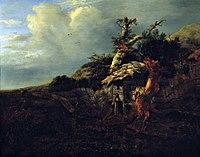 Jacob van Ruisdael - Dune Landscape with Thatched Cottage.jpg