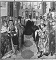 Jacob van Utrecht - Der hl. Bernhard auf dem Reichstag zu Speyer Außenseite, Geburt Christi - WAF 1187 - Bavarian State Painting Collections.jpg