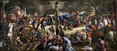 Crucifixión Tintoretto 1565 Wikipedia La Enciclopedia