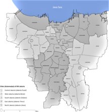 Jakarta-Administrative divisions-Jakarta districts