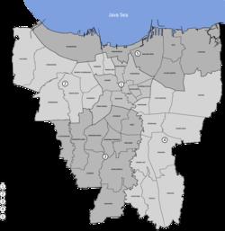 Kostel Nanebevzetí Panny Marie se nachází v Jakartě