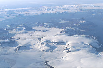 James Ross Island -  James Ross Island from NASA's DC-8 aircraft during an AirSAR 2004 mission over the Antarctic Peninsula