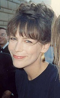 Jamie Lee Curtis at the 1989 Emmy Awards
