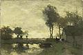 Jan Hendrik Weissenbruch - Landschap met boerderij bij een plas.jpg