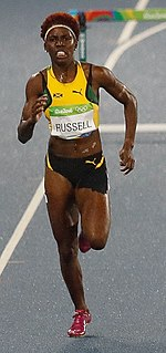 Janieve Russell Jamaican track and field athlete