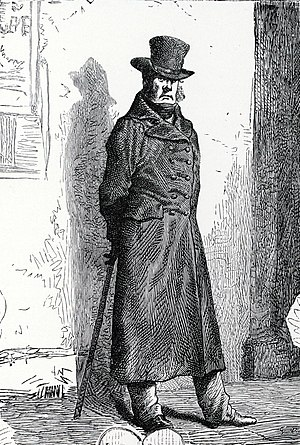 Javert - Javert – illustration from original publication of Les Misérables, after a painting by Gustave Brion (1824–1877)
