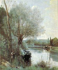 La Liseuse sur la rive boisée
