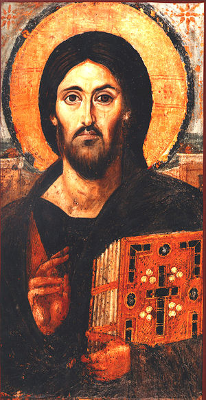 A 6th century icon of Jesus at St. Katherine's...