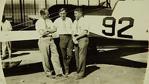 Jimmy Doolittle, Jimmy Wedell and Harry Palmerston Williams with Wedell-Williams Miss New Orleans.jpg