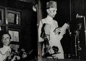 Parliament of Pakistan - Muhammad Ali Jinnah replying to the Address by Lord Mountbatten in Constituent Assembly on 14 August 1947.