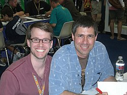 Eric Nylund (right) with Joseph Staten in 2007