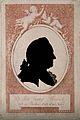 Johann Georg Kruenitz. Indian ink silhouette over pink line Wellcome V0003275.jpg