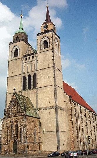 Georg Österreich - Johanniskirche in Magdeburg where Österreich was baptized