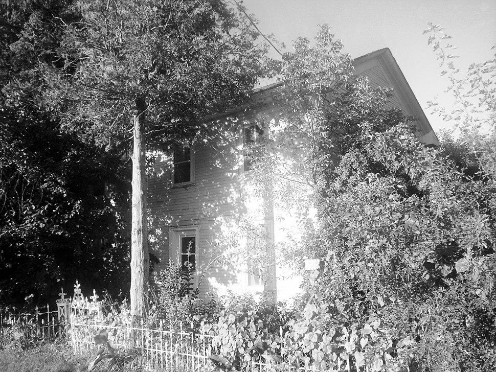 John Bogart House three quarter BW view