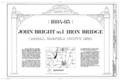 John Bright No. 1 Iron Bridge, Spanning Poplar Creek at Havenport Road (TR 263), Carroll, Fairfield County, OH HAER OHIO,23-CAR.V,1- (sheet 1 of 5).png