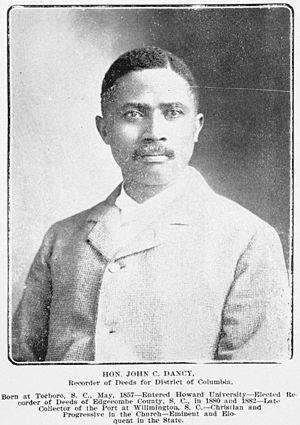 John C. Dancy - Dancy in 1902