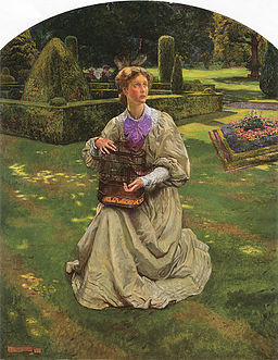 John Liston Byam Shaw The Caged Bird