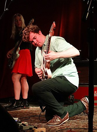 Surfer Blood - John Paul Pitts and Lindsey Mills of Surfer Blood performing at The Saint in Asbury Park, NJ, August 2017