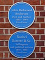 John Redwood Anderson and Rachel Barrett plaques.jpg