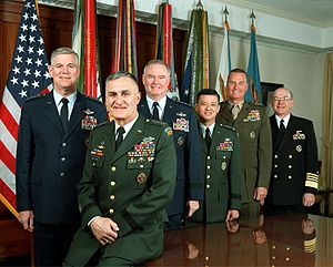 The Joint Chiefs of Staff, photographed in the...