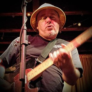 Jon Langford playing with The Mekons at the Hideout, Chicago, IL on July 15, 2015