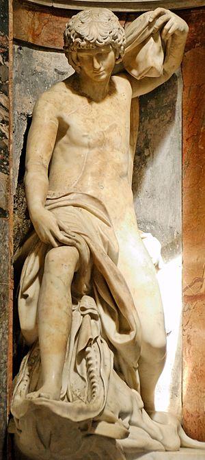 Lorenzetto - Jonah by Lorenzetto, Chigi Chapel, Santa Maria del Popolo.