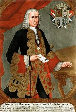 José Alfonso Pizarro - Admiral José Alfonso Pizarro, Viceroy of New Granada, 1749-53