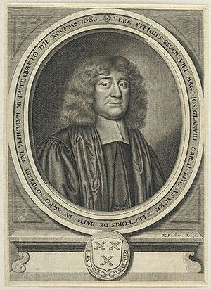 Joseph Glanvill - Joseph Glanvill, 1681 engraving by William Faithorne.