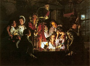 Joseph Wright of Derby's An Experiment on a Bird in the Air Pump; 1768.[115]
