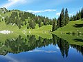 July view of lake Oberstockensee in Simmental Bernese Oberland Valley, Swiss alps.jpg