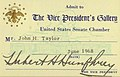June 1968 Hubert Humphrey signature Senate Card while Vice-President.jpg
