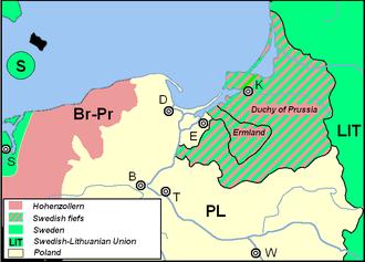 Treaty of Königsberg (1656) - Duchy of Prussia and Ermland (Warmia) as Swedish fiefs
