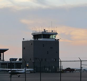 Cleveland Burke Lakefront Airport - Cleveland Burke Lakefront Airport control tower