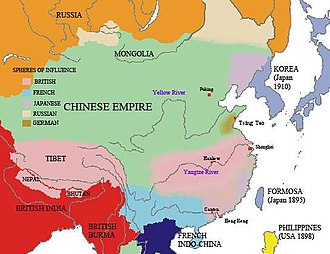 Kowloon-Canton Railway Corporation - Spheres of influence in Chinese empire in early 20th century