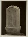 KITLV 28243 - Isidore van Kinsbergen - Stone (front) with inscriptions at the residency in Kediri - 1866-12-1867-01.tif