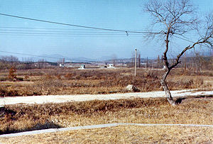 Korean axe murder incident - View from KPA No. 7 (near CP No. 2) towards CP No. 3