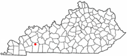 Location of Crofton, Kentucky