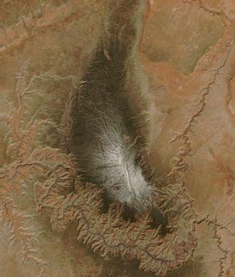 Kaibab Plateau - Kaibab Plateau from space