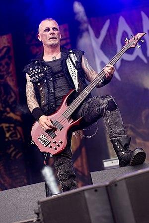 Kampfar - Bassist Jon at Rockharz 2016