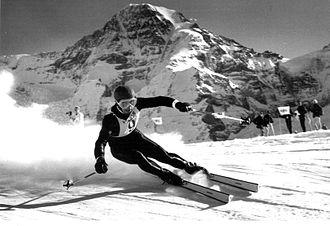 Wengen - Karl Schranz winning in 1966