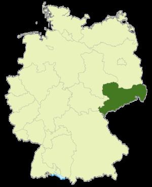Sachsenliga - Image: Karte DFB Regionalverbände SN