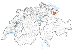 Cairt o Swisserland, location o Appenzell Innerrhoden highlighted