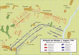 Battle of Minden - Image: Karte Schlacht bei Minden 1759