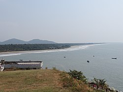 View of the coast at Murdeshwar