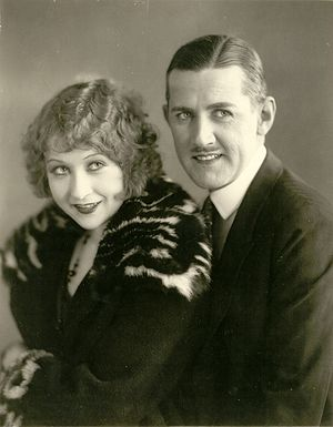 Katherine Grant - Katherine Grant and Charley Chase in publicity photo.