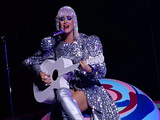 """Thinking of You (Katy Perry song) - Perry performing an acoustic version of """"Thinking of You"""" during her Witness: The Tour on October 2017."""