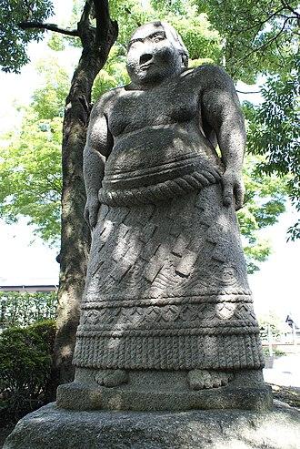 Hitachiyama Taniemon - Statue of Hitachiyama