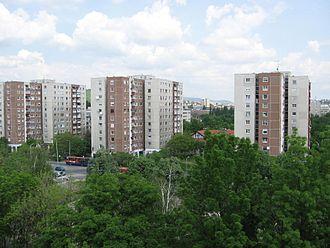 Kelenföld - Tower blocks in Kelenföld housing estate (built at the end of the 1960s)